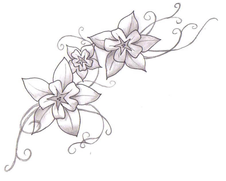 Tattoo flower galery tattoo design tattoo drawing for Drawing design ideas