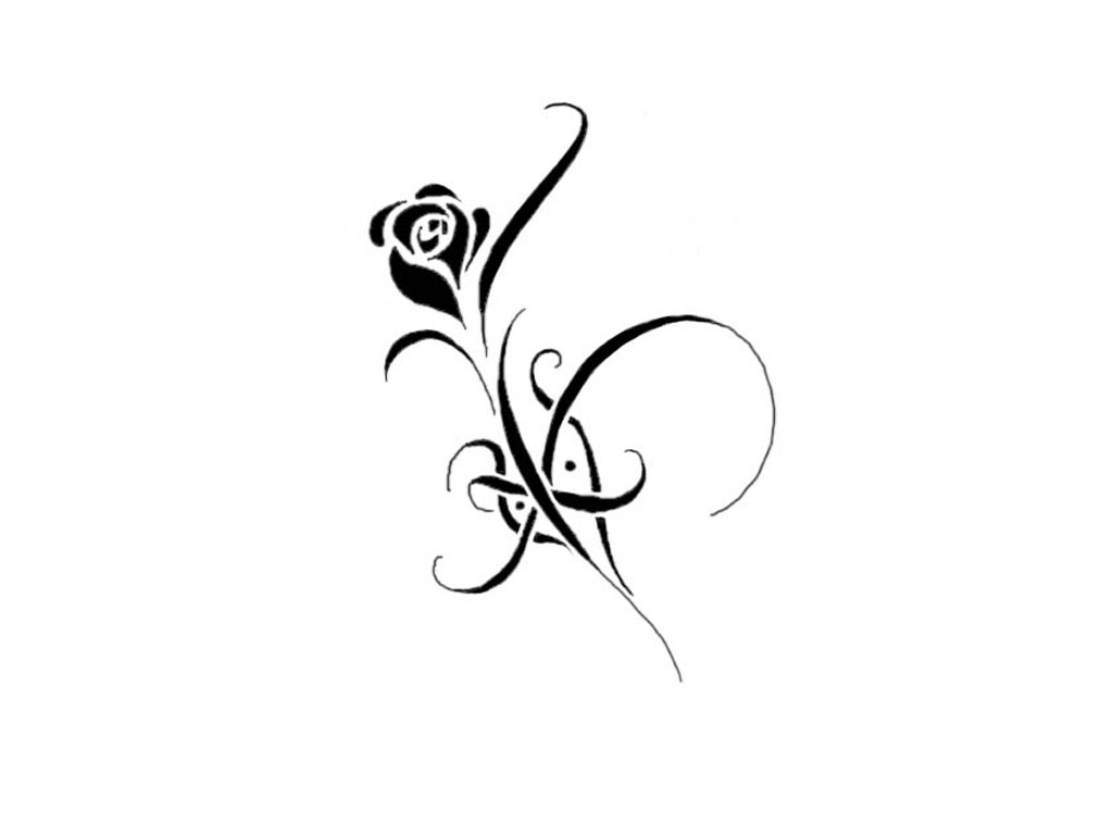 Flowers Tattoo Designs and Drawings for Printing